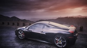 ferrari, 458, italia, side view, black - wallpapers, picture