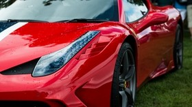 ferrari 458 speciale, ferrari, sports car, car, red, headlight, wheel - wallpapers, picture