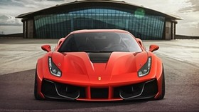 ferrari, 488, gtb, 2015, front view, red - wallpapers, picture