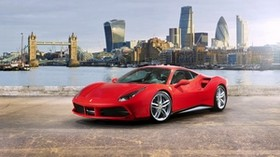 ferrari, 488 gtb, red, side view - wallpapers, picture