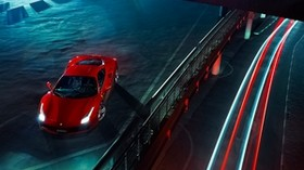 ferrari, 488, gtb, red, top view - wallpapers, picture