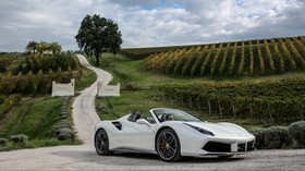 ferrari, 488, spider, white, side view - wallpapers, picture