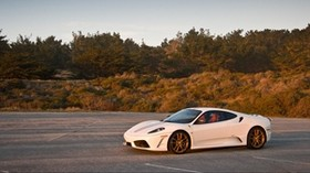 ferrari, white, stylish, sports car - wallpapers, picture