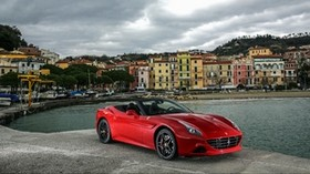 ferrari, california, red, side view - wallpapers, picture