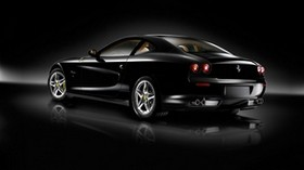 ferrari, black, side view, style, shine - wallpapers, picture