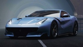 ferrari f12, ferrari, sports car, racing, front view, car - wallpapers, picture