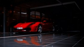 ferrari f430, ferrari, sports car, red, shadow - wallpapers, picture
