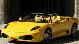 ferrari, f430, spider, yellow, convertible, side view - wallpapers, picture