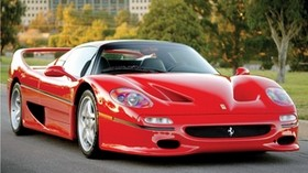 ferrari, f50, preserial, red, front view - wallpapers, picture