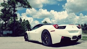 ferrari, ferrari 458, white, stylish - wallpapers, picture