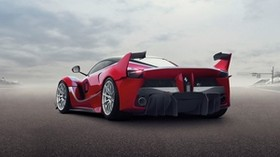ferrari fxx k, ferrari, hypercar, rear view, wings - wallpapers, picture