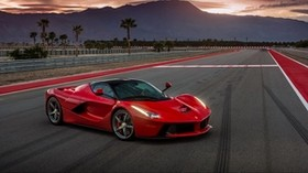 ferrari, laferrari, red, side view - wallpapers, picture