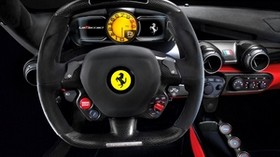 ferrari, laferrari, salon, car, steering wheel - wallpapers, picture