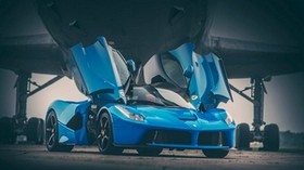 ferrari, laferrari, blue, doors - wallpapers, picture