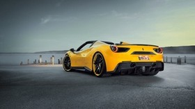 ferrari, novitec, rosso, yellow - wallpapers, picture