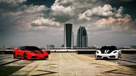 ferrari, scuderia, the city, style - wallpapers, picture