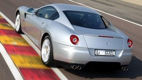 ferrari, gray, rear view, style - wallpapers, picture