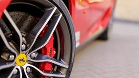 ferrari, tire, wheel, logo - wallpapers, picture