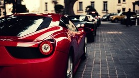 ferrari, veyron, bugatti, black, italy, ferrari, red - wallpapers, picture