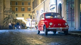 fiat, 500px, red, front view - wallpapers, picture