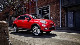 fiat, 500x, side view, red - wallpapers, picture