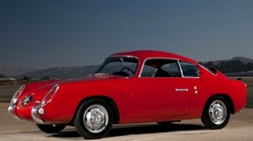 fiat, abarth, 750gt, red, fiat, retro, side view, car, nature - wallpapers, picture