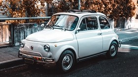 fiat, car, retro, vintage, side view - wallpapers, picture