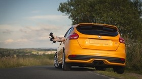ford, car, legs, shoes, tattoos, girl, relaxation, nature, ford focus st - wallpapers, picture