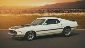 ford, white, mach 1, mustang - wallpapers, picture