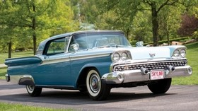 ford, fairlane, 500, skyliner, retractable, side view, hardtop, 1959 - wallpapers, picture