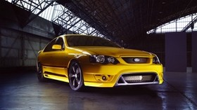 ford falcon, fpv, f6, yellow, side view - wallpapers, picture