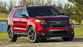 ford, ford explorer, ford explorer, auto, red - wallpapers, picture