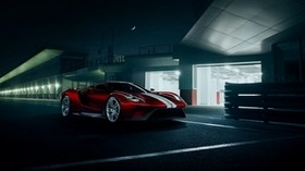 ford, gt, 2016, red, side view - wallpapers, picture