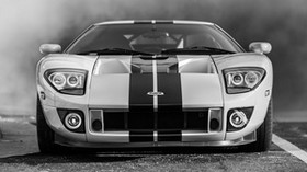 ford gt, ford, bw, headlights - wallpapers, picture