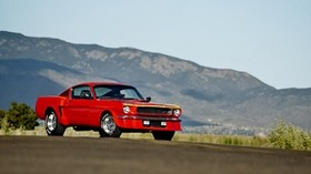ford mustang, 1965, red, side view - wallpapers, picture