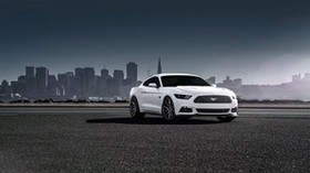ford, mustang, 2015, vossen, white, side view - wallpapers, picture