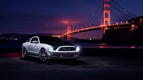 ford, mustang, aristo, night, car - wallpapers, picture