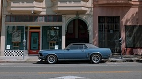 ford mustang, car, facade, vintage, urban - wallpapers, picture