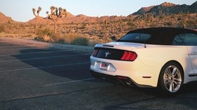 ford mustang, car, desert, rear bumper, travel - wallpapers, picture