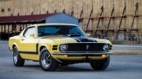 ford, mustang, boss 302, 1970, yellow, side view - wallpapers, picture