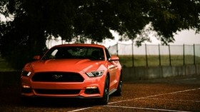 ford mustang, ford, car, sports car, red, front view - wallpapers, picture