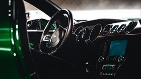 ford mustang, ford, machine, salon, steering wheel, control panel - wallpapers, picture