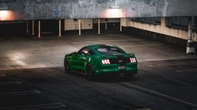 ford mustang, ford, car, green, sports car, parking - wallpapers, picture