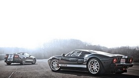 ford, mustang, gt500, shelby, dark, street - wallpapers, picture