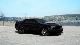 ford, mustang, gt, black, landscape, red - wallpapers, picture