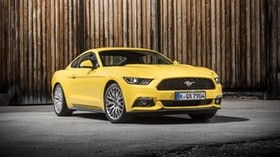 ford, mustang, gt, eu-spec, yellow, side view - wallpapers, picture