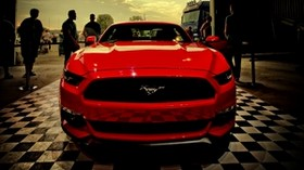 ford, mustang, red, front view - wallpapers, picture