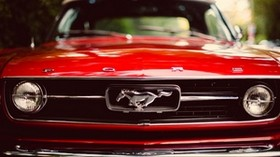 ford mustang, red, car - wallpapers, picture