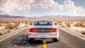 ford mustang, mustang gt, mustang, clouds, road - wallpapers, picture