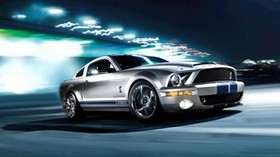 ford, mustang, gray, shelby, gt500, car - wallpapers, picture